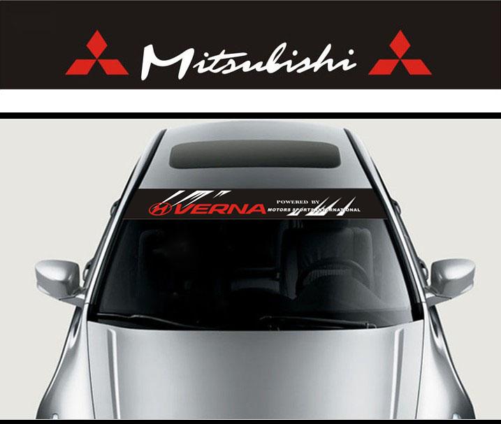 125 x 20CM Car Styling Decoration Front Windshield Decal Sticker for MITSUBISHI ASX Emblem Black Background Free shipping(China (Mainland))