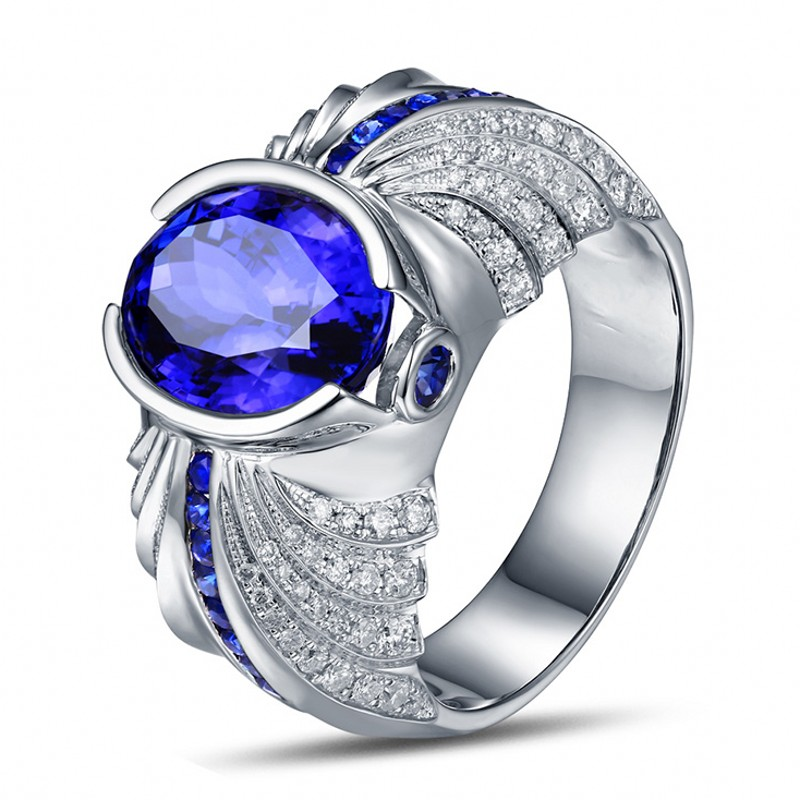 Victoria Wieck Fashion Men ring 5ct Sapphire Simulated diamond Cz 925 Sterling silver Engagement Wedding Band Ring for Men(China (Mainland))