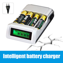 2015 Original C905W 4 Slots LCD Display Smart Intelligent Battery Charger for AA / AAA NiCd NiMh Rechargeable Batteries EU Plug(China (Mainland))