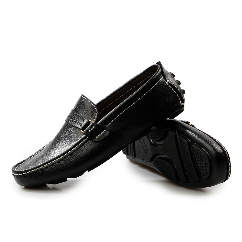 2015 New Best Quality Genuine Leather Men Flats Casual Shoes Soft Penny Loafers Sneakers Comfortable Driving Boat Shoes Sapatos(China (Mainland))