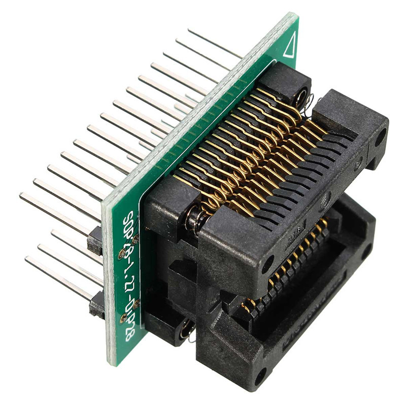 New SOP28 to DIP28 Adapter Socket Wide 300mil IC SOIC28 to DIP28 SOP16 to DIP16 SOP20 to DIP20 IC programmer socket adapter(China (Mainland))