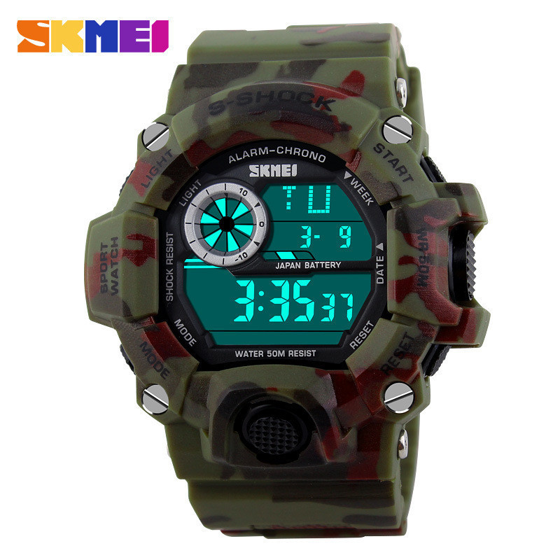 2015 Skmei G Style Men LED Digital Military S Shock Watch Dive Men's Sports Watches Fashion Men Wristwatches relogios masculinos(China (Mainland))