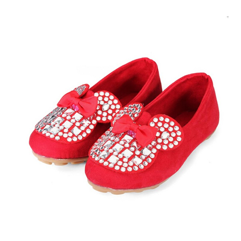 3 Colors Lovely Children Girl Flat Shoes Bling Kids Princess Rhinestone Slip-On Bowknot Solid Sneakers Breathable Size 26-30<br><br>Aliexpress