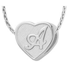 2016 Fashion  Necklace Silver  Plated Link Chain Heart Shape Letter A-S Pendant Necklace For Women/Man Jewelly Gift(China (Mainland))