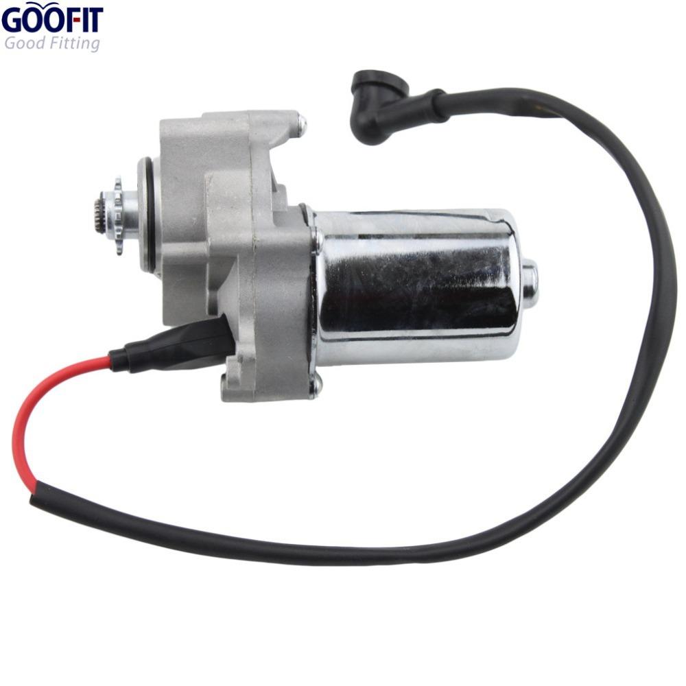 GOOFIT Electric Starter Motor for 50cc-125cc Under Hotizontal Engine ATVs Dirt Bikes Go Karts MOTORCYCLE ACCESSOSRY K084-004(China (Mainland))