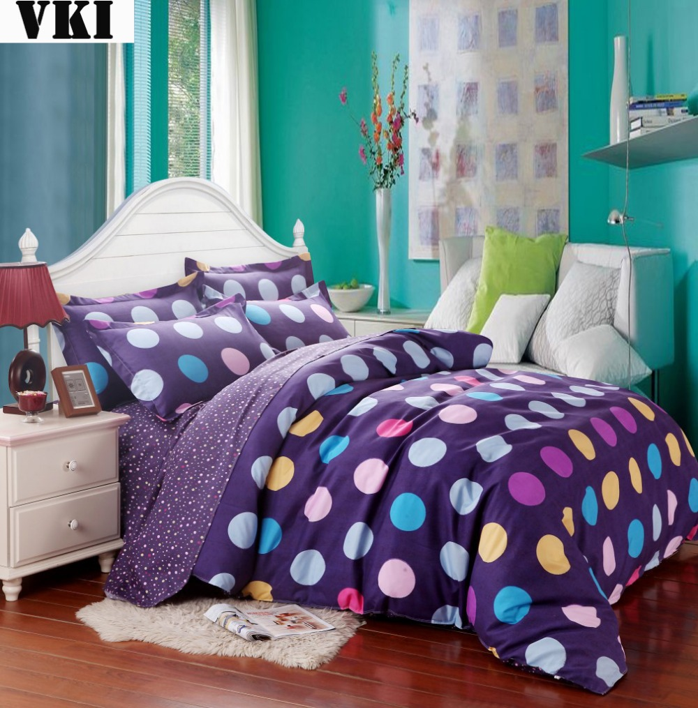 Home textile 4 PCS/Lot pastoral single bed sheet fabric quilt cover set Pillowcase Bedding Set with queen,king,twin,single size(China (Mainland))