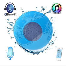 Portable Mini Waterproof Wireless Bluetooth Speaker Shower Hands-free Suction Cup In-car Built-in Microphone for iPhone Samsung(China (Mainland))