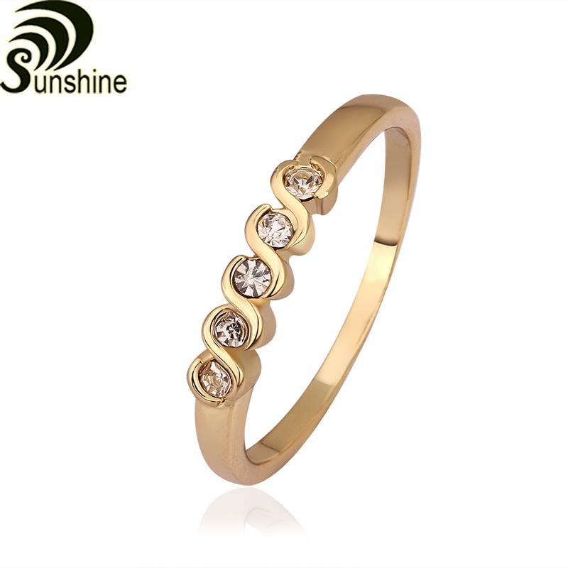 R565 yellow light Edition 18K gold plated rings, engagement/wedding rings, slender fingers girl's best accessories(China (Mainland))