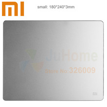 Original Xiaomi Metal mouse pad 18*24cm*3mm, Luxury Simple Slim Aluminum computer mouse pads Frosted Matte(China (Mainland))