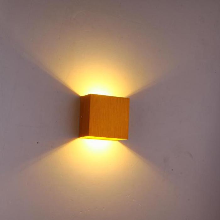 Small led wall lamp ofhead lamp black gold modern brief(China (Mainland))