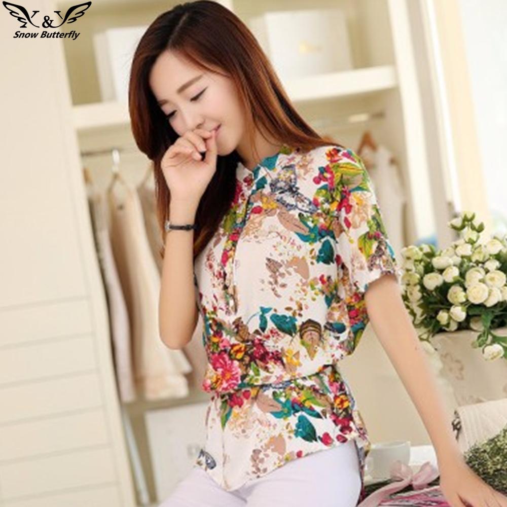 2016 Summer Style Kimono Blouses Top Plus Size Xs 5xl
