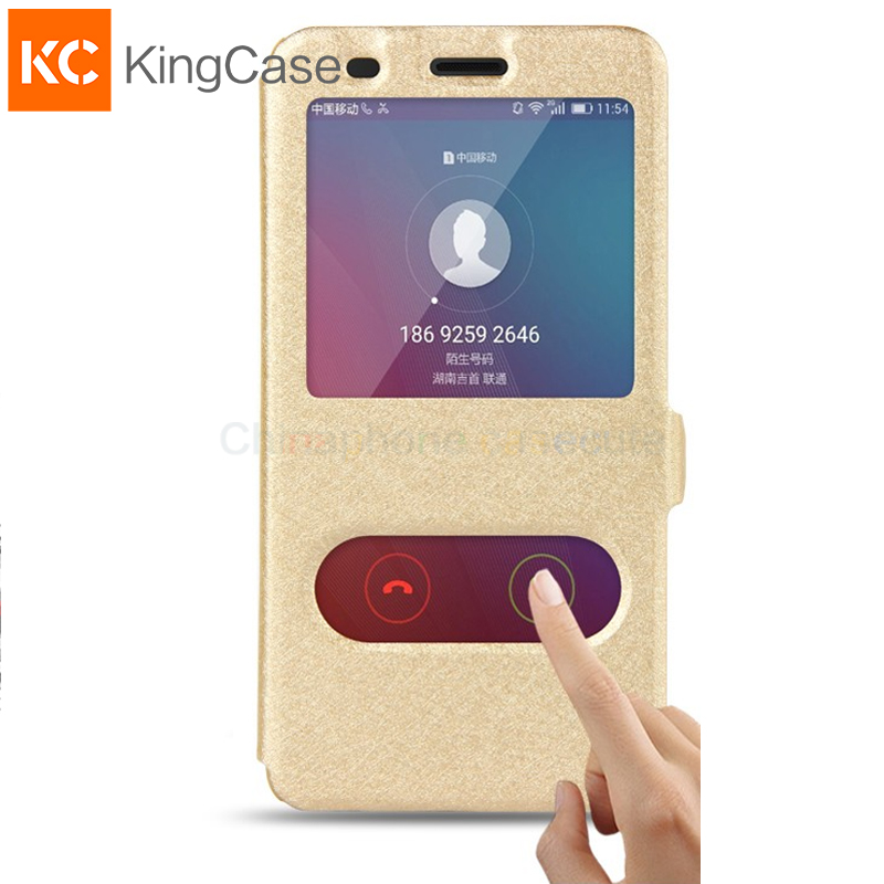 Leather Case For Huawei Honor 5X font b Phone b font With Window View High Quality