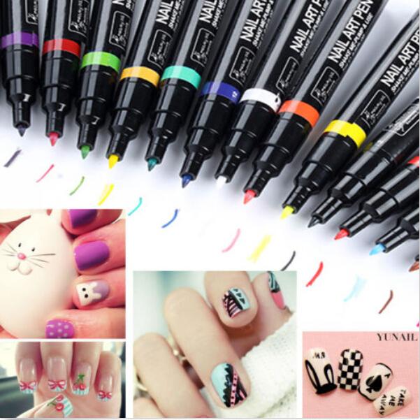 Nail Art Pen Painting Design Tool Drawing for UV Gel Polish 18 colors choose(China (Mainland))