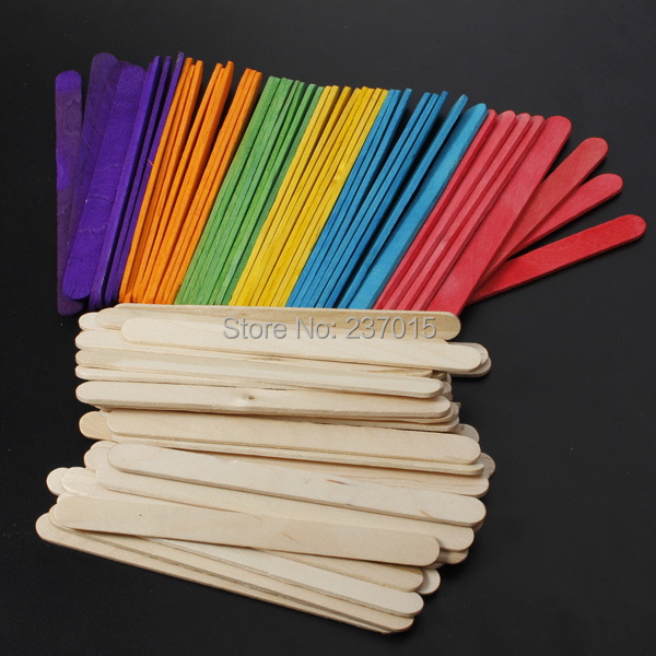 50pcs Wooden Lollipop Popsicle Sticks Party Kids Crafts Ice Cream Lolly Cake Pops Making(China (Mainland))