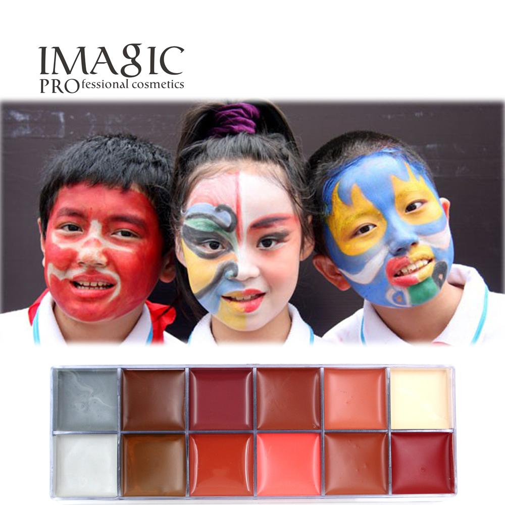 Hot Sale Body Paint Face Children's Halloween Graffiti Painted Cream Body Paint Makeup Pigment Waterproof Oil Painting Art Kit(China (Mainland))