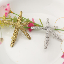 New Arrival Fashion Retro Metal Starfish Hair Clips Sea Star Side Clip Hairpins Hair Accessories Sweet Alloy Barrette Nice Gift