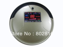 Free Shipping By EMS to Brazil 3 In 1 Multifunction Robot Vacuum Cleaner  With Li-ion Battery,Big LCD Screen and 1L Dustbin(China (Mainland))