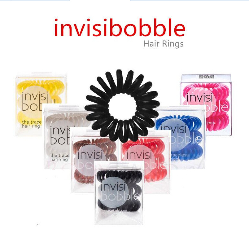 3Pcs/Box Invisibobble Original Elastic Hair Bands For Women Gum Rezinochki Plaiting Scrunchy Rubber Wreath Beauty Essentials(China (Mainland))