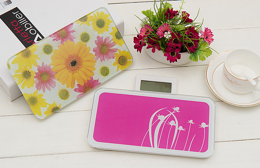 Free shipping 400lb/180kg Digital LCD Glass Bathroom Scale Body Weight Watchers High Precision(China (Mainland))
