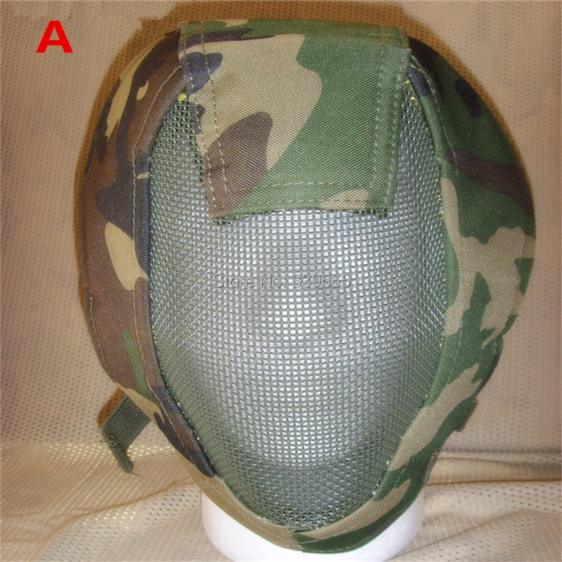 Airsoft mesh mask painted