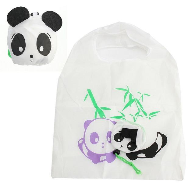 1 шт. эко путешествия складной сумки панда кошка свинья утка бакалея хранения многоразовые ...