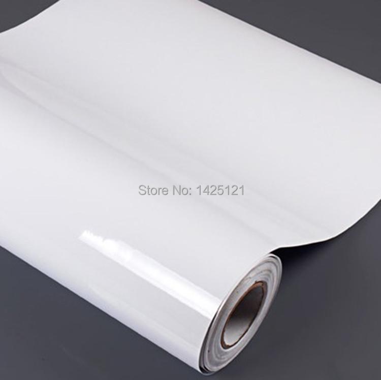 High Glossy White Wall Sticker Furniture Renovation Stickers Waterproof Vinyl Wallpaper Cabinet Film For Kitchen DIY Decorative(China (Mainland))