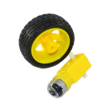 Buy Free shipping!1PCS DC motor +1PCS Rubber Wheel Arduino Robot car /Smart car for $2.79 in AliExpress store