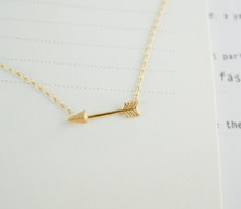 2015 New Fashion mini body chain rose gold one direction arrow necklaces Pendant for Women bff