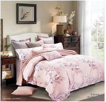 acheter rose floral ensemble de literie de luxe 100 coton gyptien draps roi. Black Bedroom Furniture Sets. Home Design Ideas