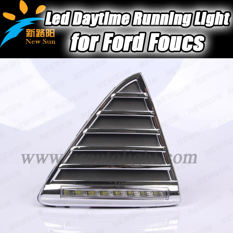 China Supply 720LM 8W 12v super bright led drl daytime running light, High quality led daytime lights for ford focus 2012<br><br>Aliexpress