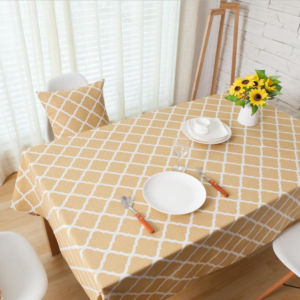 Geometric Linen Cotton Tablecloth Korean Style Table Cloth Cover Rectangular Toalhas De Mesa Bordada Tablecloths For Wedding(China (Mainland))