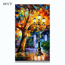 Buy BA Oil Painting 100% Hand-painted Modern Design Knife Oil Canvas Painting Big Size Landscape Oil Paintings Canvas Framed for $8.04 in AliExpress store