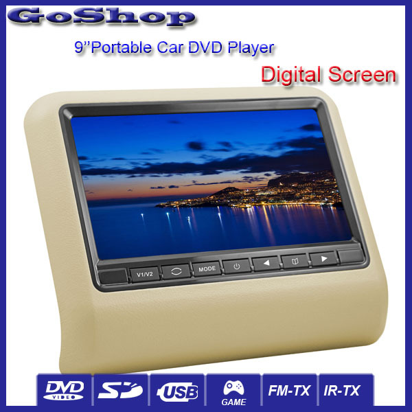 Beige Color Auto Electronics Hot Selling 2X9'' Portable