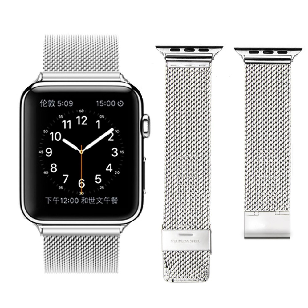 2 Style Milanese Mesh Loop Watch Band for Apple Watch Iwatch Stainless Steel Metal Watch Strap for Apple Watch/ Sport/ Edition(China (Mainland))