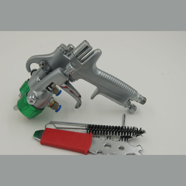 SAT1189 coating gun HVLP chrome paint for car compressed two double nozzle hvlp referee gun sprayer air brush(China (Mainland))
