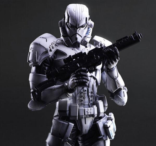 Star Wars Action Figure Kai Imperial Star Wars Collection PLAY ARTS Stormtrooper 28cm white soldiers hand to do model Doll<br>