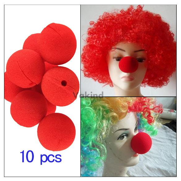 V1NF lot of 10 PCS Party Sponge Ball Red Clown Magic Nose for Halloween party Masquerade