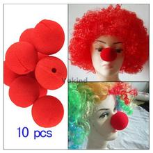 V1NF lot of 10 PCS Party Sponge Ball Red Clown Magic Nose for Halloween party Masquerade Free Shipping(China (Mainland))
