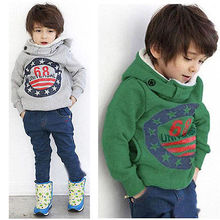 Cartoon 6 8 Baby Boys Girls Kids Coat Hoodie Jacket  Pullover Outwear(China (Mainland))