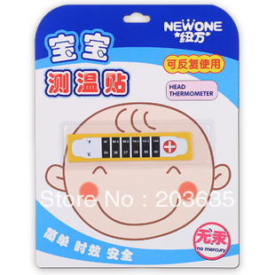 Baby infant forehead temperature measurement card,sticker. 2pcs/lot(China (Mainland))