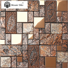 Platinum b961 metal resin ceramic mosaic vintage fashion wind tv entranceway background wall