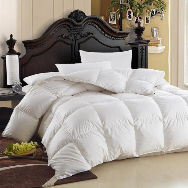 Thick cotton white goose down duvet quilt winter is anti-drilling Cashmere 3.75kg 230cm x 200cm