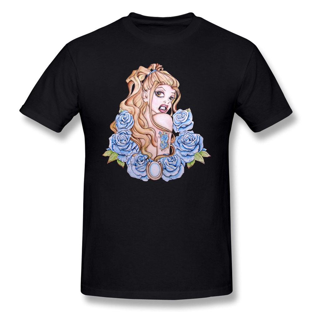 sexy girl men 39 s tshirt casual rose pin up tattoo art
