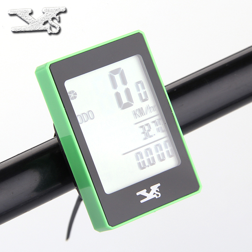 YS 668C Bike Cycling Bicycle Odometer Computer Wireless Speedometer Multi-Function Battery include(China (Mainland))