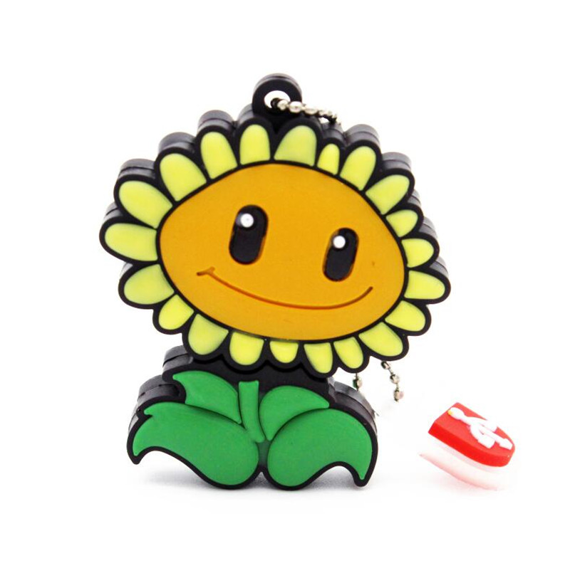 Free Shipping sunflowers USB Flash Drive Plants Vs Zombies hot sale cartoon pendrive 4gb 8gb 16gb 32gb Wholesale promotion(China (Mainland))