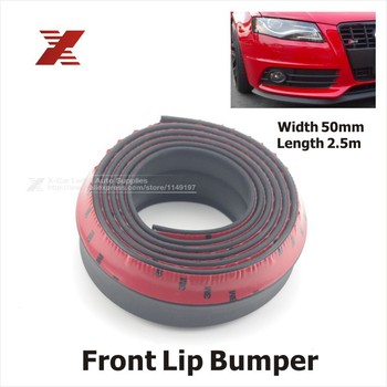 2.5M/ Roll New 2015 5CM Width TPVC Lip Skirt Protector Car Scratch Resistant Rubber Bumpers Car Front Lip Bumpers Decorate