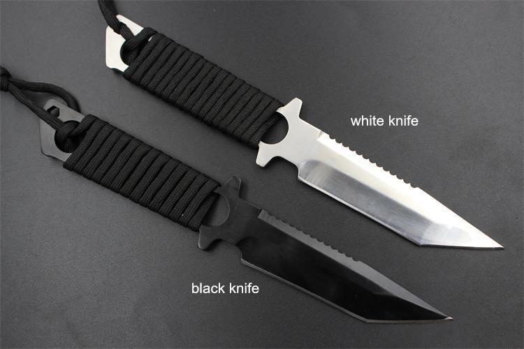 Buy Outdoor Survival Camping Pocket Knife Leggings Stainless Steel Diving Straight knife / Tactical Knife cheap