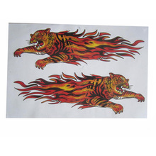 (50 pieces/ lot ) Wholesale Terrible tiger Stickers for car motorcycle wall decals car accessories car-styling(China (Mainland))
