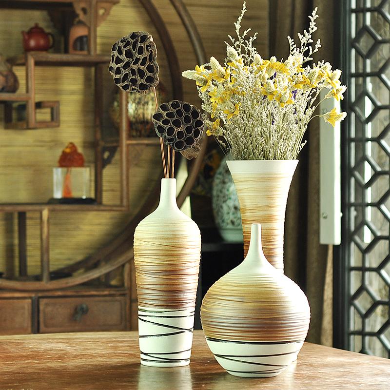 Home decor ceramic modern fashion brief floor vase set for Modern home decor vases