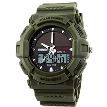 2016 Skmei Solar Power Wristwatch Mens Quartz Amry Watches Men Military Waterproof Sports Watches Men Relogio Masculino Relojes(China (Mainland))